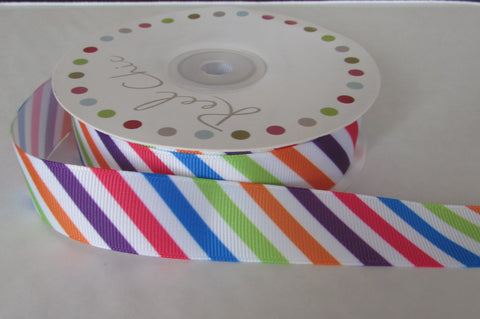 25m of Geometric Stripe Ribbon
