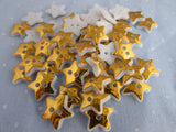12mm Silver or Gold Star Shaped Buttons