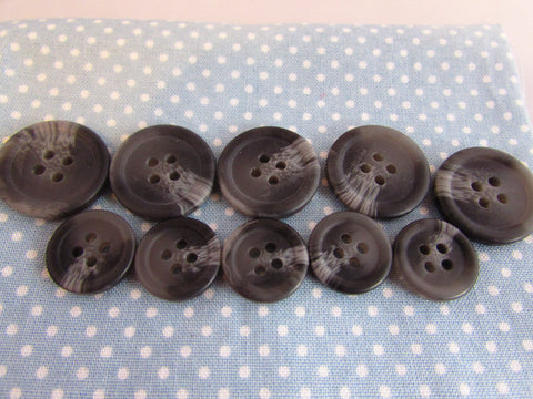 15MM AND 20MM GREY COAT BUTTONS