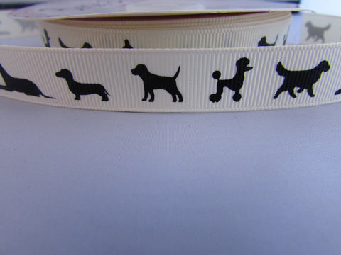Dog Silhouette Ribbon
