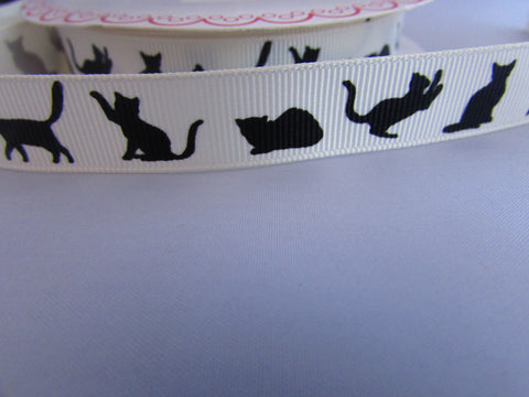 Cat Silhouette Ribbon