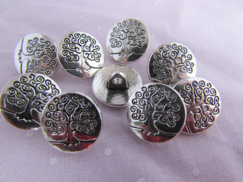 Tibetian Silver Tree of Life Buttons