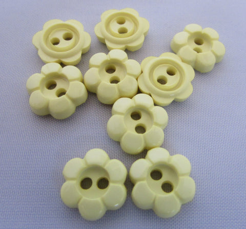 Lemon Daisy Flower Buttons