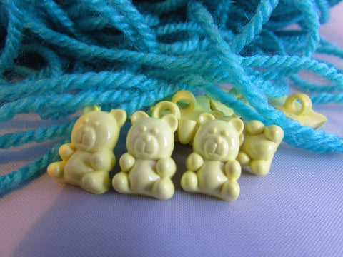 Lemon Teddy Bear Buttons