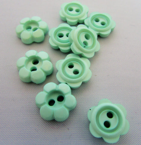 Mint Daisy Flower Buttons