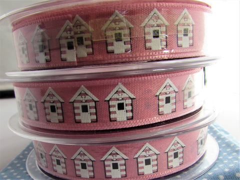 Beach Hut Ribbon Pink