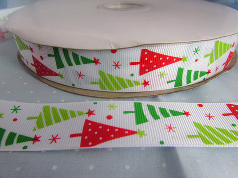 Red and Green Christmas Tree Ribbon