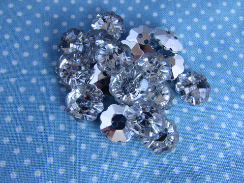 Silver Backed Crystal Flowers
