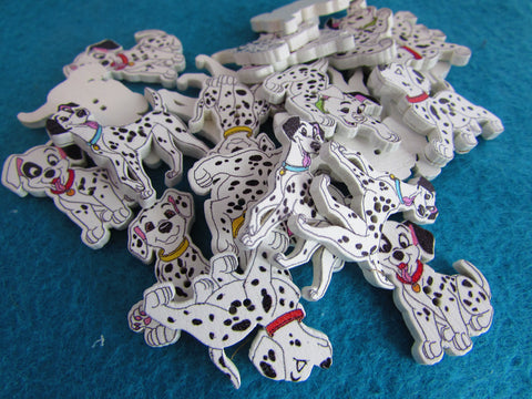 Wooden Dalmatian Dog Buttons