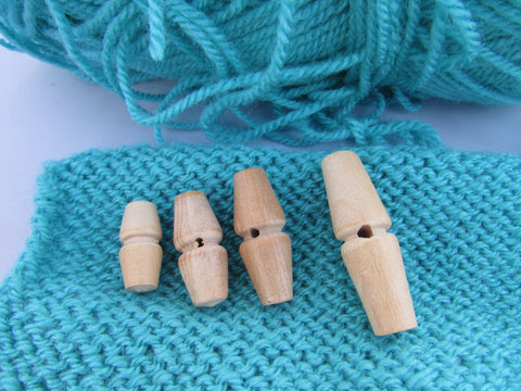 Natural Wooden Toggle Buttons 20mm, 25mm, 30mm and 40mm
