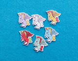 30mm Wooden Unicorn Buttons