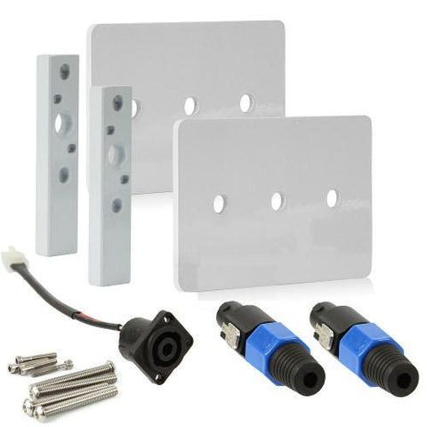 Wet Sounds Bracket for T-top mounts w/White Speaker Top Plate w/Retro Kit, PAIR (ADPFTTOP) - Extreme Electronics