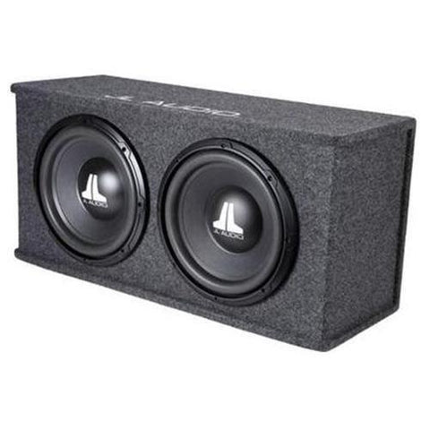 "JL AUDIO Dual 10"" BassWedge Ported Loaded Sub Enclosure (CP210W0V3) - Extreme Electronics"
