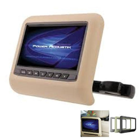 "POWERACOUSTIK  Single 7"" LCD Bracket Mount Monitor W/ Built-In DVD Player - Extreme Electronics"