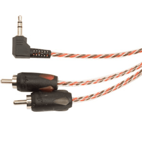 STINGER 3.5MM To RCA With Right Angle 6 Ft - Extreme Electronics