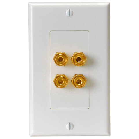 QUEST Decora Dual Speaker Wall Plate, White - Extreme Electronics