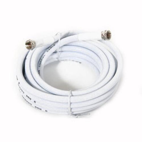Ultralink RG6 Coaxial Cable With F Connector, White, 50 ft (UHRG650C) - Extreme Electronics