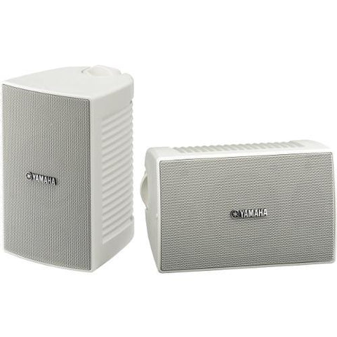 "YAMAHA White 4"" 80 Watt All Weather Outdoor Loudspeakers, Pair (NSAW194W) - Extreme Electronics"