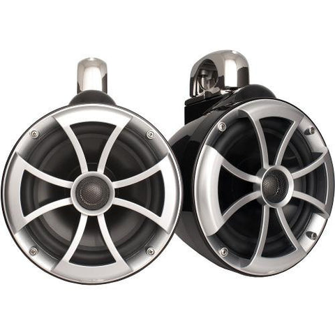 "WET SOUNDS 600W 8"" Marine Tower Speakers, PAIR (ICON8B) - Extreme Electronics"