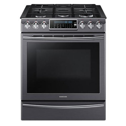 Samsung Gas Range 5.8 cu.ft Oven with Reversible Griddle - Black Stainless (NX58K9500WG/AC) - Extreme Electronics