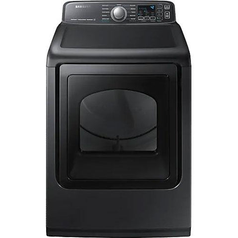 SAMSUNG 7.4 Cu. Ft. Electric Steam Front Load Dryer with Steam Sanitize+, Black Stainless Steel (DVE50T7455V/AC) - Extreme Electronics