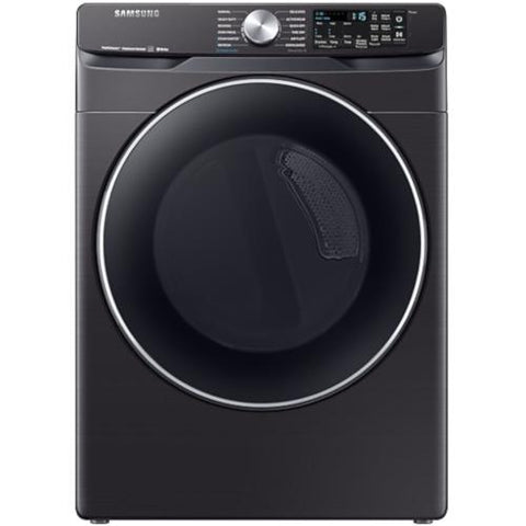 SAMSUNG 7.5 Cu. Ft. Front Load Smart Electric Dryer with Steam Sanitize+, Black Stainless Steel (DVE45R6300V/AC) - Extreme Electronics