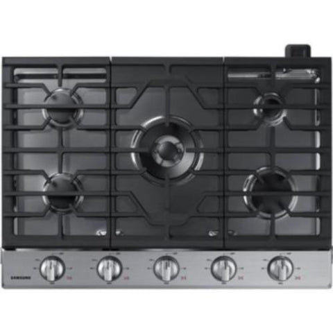 Samsung 30-inch Built-In Gas Cooktop with Wi-Fi Connectivity - Black Stainless (NA30N6555TS /AA) - Extreme Electronics