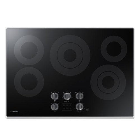 "Samsung 9.5 kW Electric Cooktop with 6 / 9"" 3.3 kW Rapid Boiler Burner (NZ30K6330RS/AA) - Extreme Electronics"