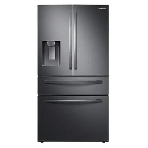 "Samsung 36"" 24 cu. ft. 4-Door Counter Depth Refrigerator with Twin Cooling Plus - Black Stainless (RF24R7201SG/AA) - Extreme Electronics"