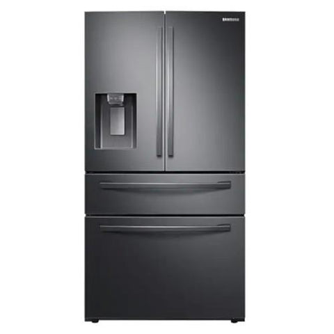 "Samsung 36"" 28 cu. ft. 4-Door French Door with Twin Cooling Plus Refrigerator - Stainless Black (RF28R7201SG/AA) - Extreme Electronics"