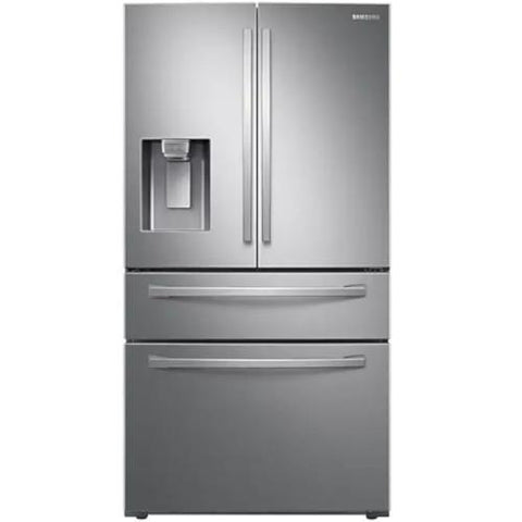 "SAMSUNG 36"" 28 Cu. Ft. 4-Door French Door with Twin Cooling Plus Refrigerator, Stainless Steel (RF28R7201SR/AA) - Extreme Electronics"