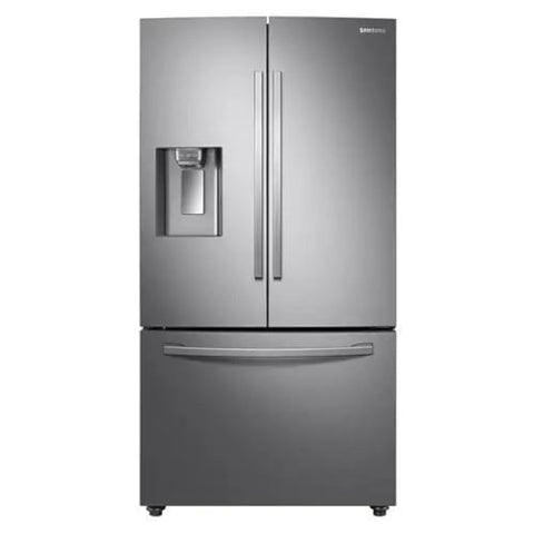 "SAMSUNG 36"" 28 Cu. Ft Counter Depth French Door Refrigerator with Twin Cooling Plus, Stainless Steel (RF28R6201SR/AA) - Extreme Electronics"