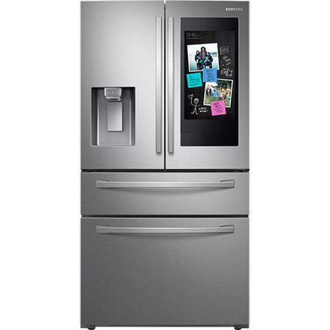 "Samsung 28 cu.ft. 4-Door French Door Refrigerator with 21.5"" Touchscreen Hub - Stainless Steel (RF28R7551SR/AA) - Extreme Electronics"