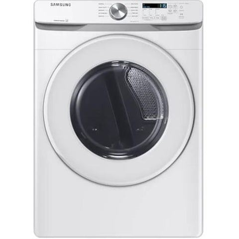 Samsung 7.5 Cu.ft. Electric Dryer with Shallow Depth - White (DVE45T6005W/AC) - Extreme Electronics