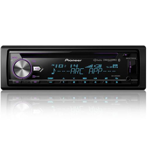 PIONEER CD/AM/FM with BT, MIXTRAX 3 RCA Preouts, 4V, SiriusXM-Ready, HD Radio™ (DEHX8800BHS) - Extreme Electronics