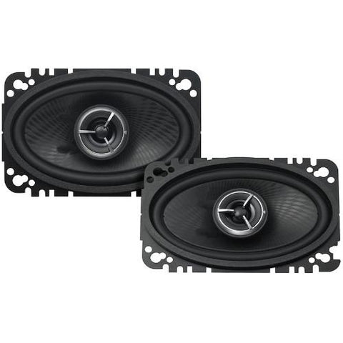 "KENWOOD Excelon 4""x 6"" 100W 2-Way Car Custom Fit Speakers, Pair (KFCX463C) - Extreme Electronics"