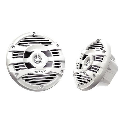 "KENWOOD Marine 6 1/2"" 2-Way Speakers White, Pair (KFC1653MRW) - Extreme Electronics"