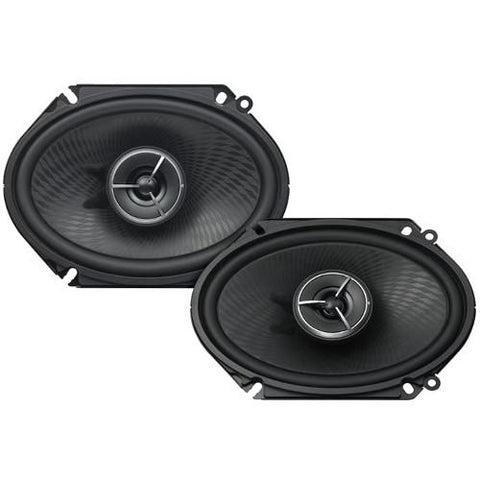 "Kenwood eXcelon 6x8"" 180W 2-Way Car Custom Fit Speakers-PAIR (KFCX683C)"
