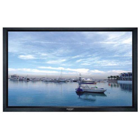 "GRANDVIEW Screens 135"" Permanent Fixed Frame Screen, Matt White - Extreme Electronics"