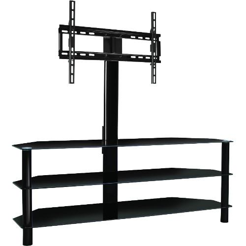 "BELLO 55"" Black Pedestal Stand With Bracket (PVS25202) - Extreme Electronics"