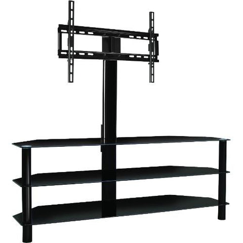 "Bell'O 55"" Black Pedestal Stand with Bracket"