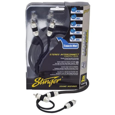 STINGER 2 Channel Triple Shielded Interconnect, 20 Ft (SI8220) - Extreme Electronics