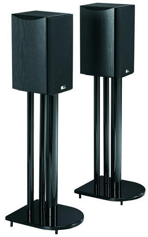 "EVERMOUNT 24"" Home Theatre Speaker Stands in High Gloss Black Finish (ESSP24B)"