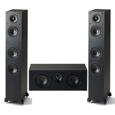 Paradigm Monitor SE 3000F 3.0 channel Speaker Bundle, Black - Extreme Electronics