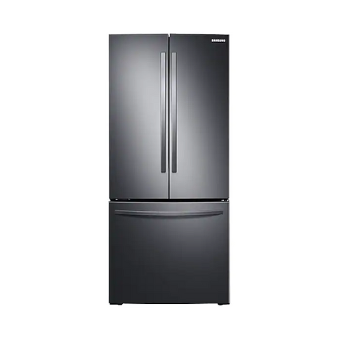 "SAMSUNG 30"" French Door Refrigerator with Digital Inverter Technology, 21.8 Cu. Ft, Black Stainless Steel (RF220NFTASG/AA)"