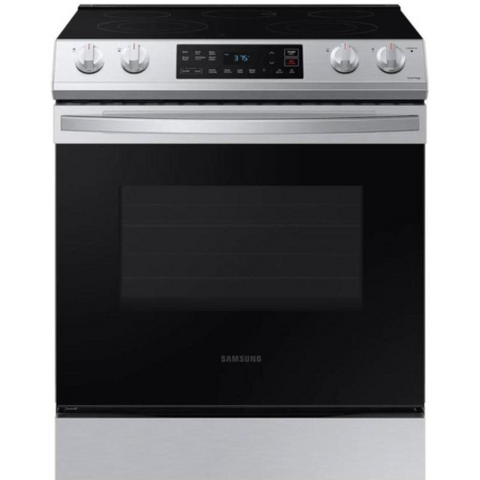 "SAMSUNG 30"" Slide-In Electric Range with WiFi Connectivity, Stainless Steel (NE63T8111SS/AC) - Extreme Electronics"