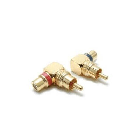 ULTRALINK Short Body Right Angle Rca Adapter, Set Of 2 (UL05242) - Extreme Electronics