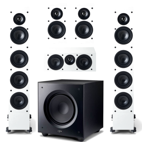Paradigm Monitor SE 6000F 5.1 channel Speaker Bundle, White - Extreme Electronics