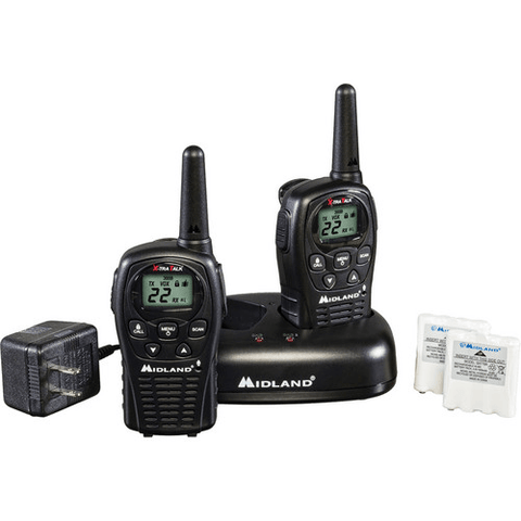MIDLAND 22 Channel 2-Way Radios with Dual AC Charger, Pair (LXT500VP3) - Extreme Electronics