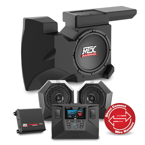 MTX Audio Two Speaker, Dual Amplifier, and Single Subwoofer Polaris RZR Audio System (RZRSYSTEM2)